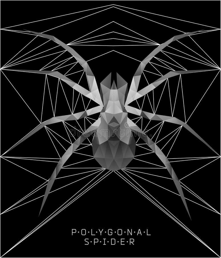 Veelhoekige spin Geometrische illustratie stock illustratie