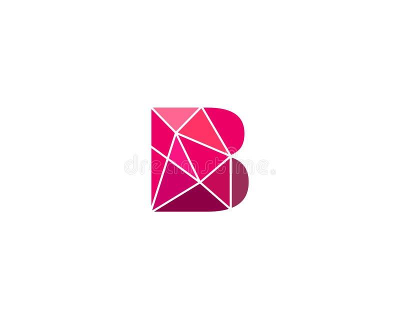 Veelhoekige tendensbrief B logotype Kleuren vectorembleem Universeel het elementensymbool van de segmentdoopvont royalty-vrije illustratie
