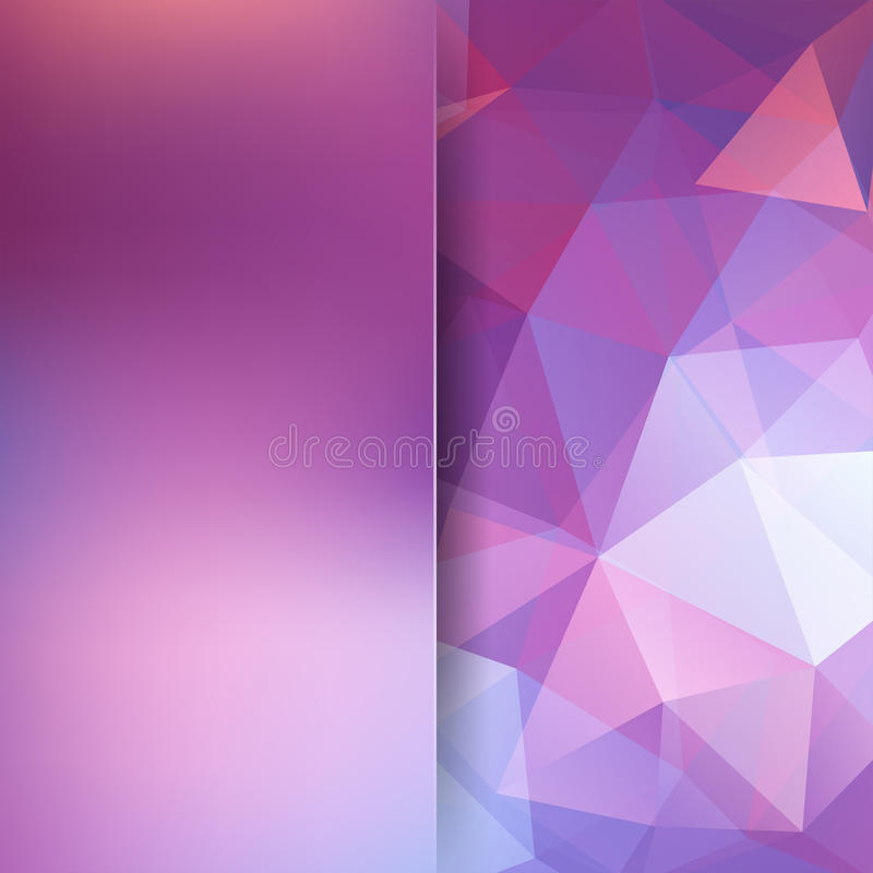 Veelhoekige vectorachtergrond Roze, witte, purpere kleuren stock illustratie