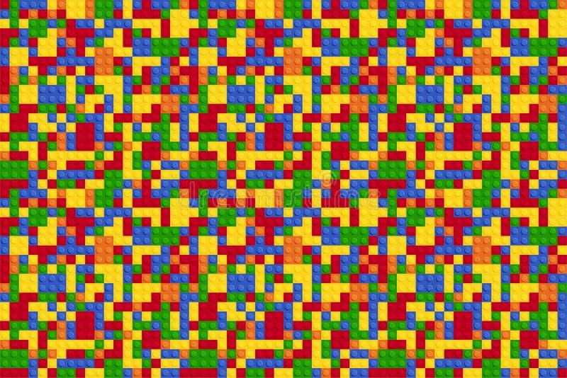 Veelkleurig abstract plastic aannemers naadloos patroon stock illustratie