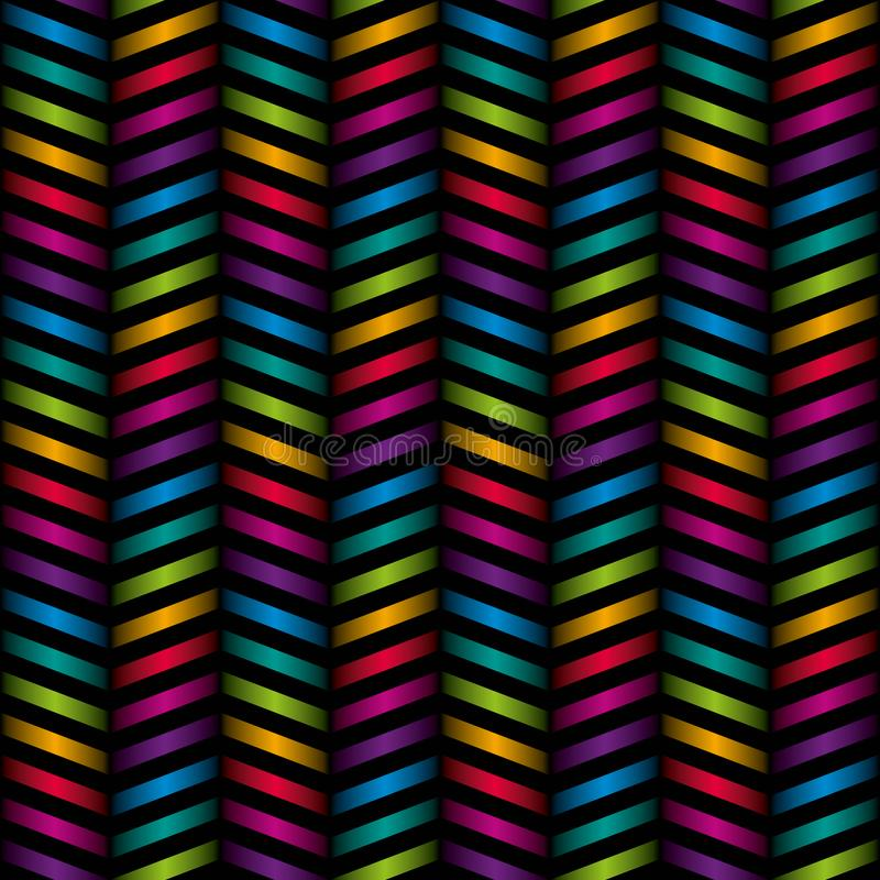 Veelkleurig chevron naadloos patroon vector illustratie