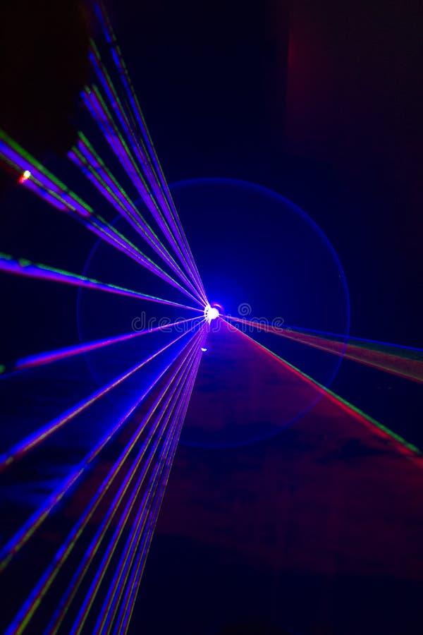 Veelkleurig cirkellicht in nachtclub stock illustratie