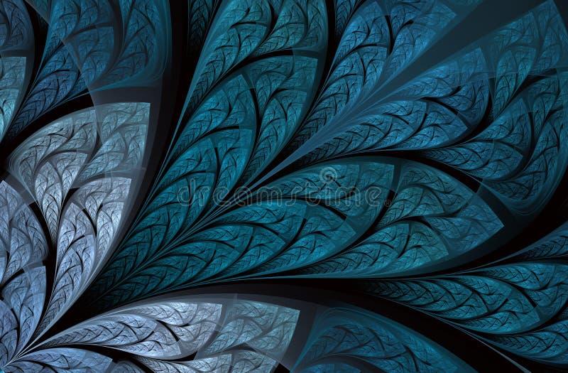 Veelkleurig mooi Boomgebladerte Computer geproduceerde grafiek vector illustratie