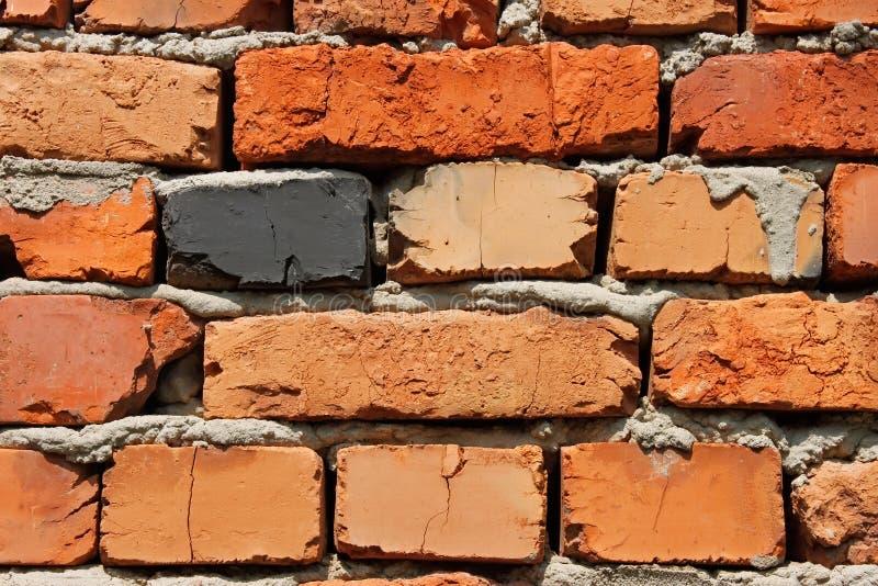 Veelkleurige bakstenen muur royalty-vrije stock afbeelding