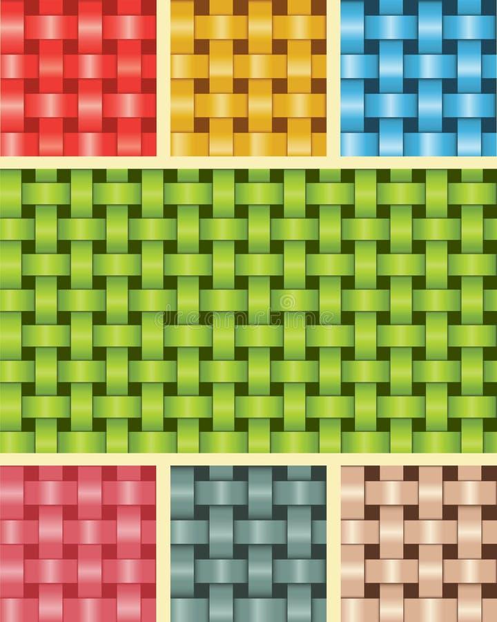 Veelkleurige de Textuur van de weefselvezel vector illustratie