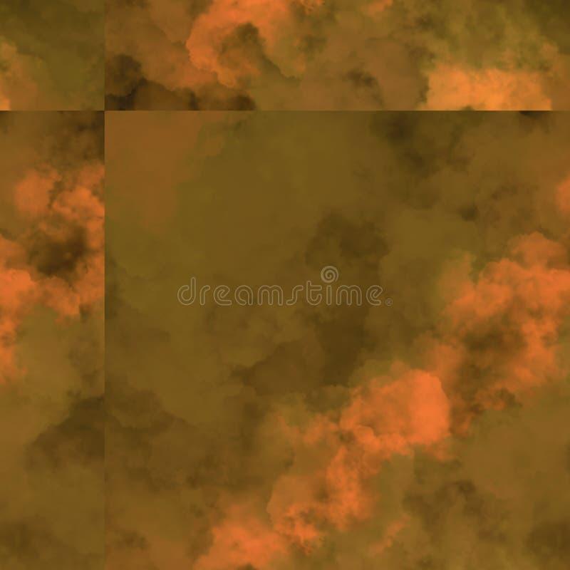 Veelkleurige die wolken op canvas worden verspreid Betegeld geweven Kunstwerk vector illustratie