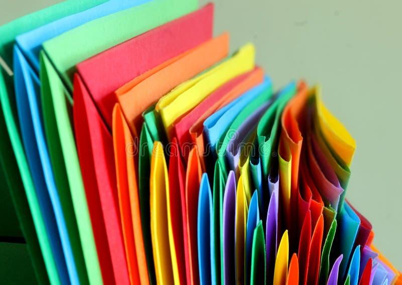 Veelkleurige document abstracte achtergrond stock afbeelding