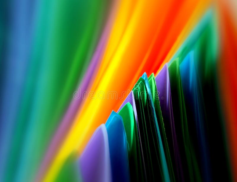 Veelkleurige document abstracte achtergrond stock foto's