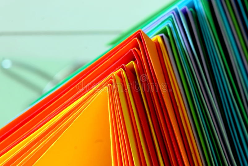 Veelkleurige document achtergrond stock fotografie