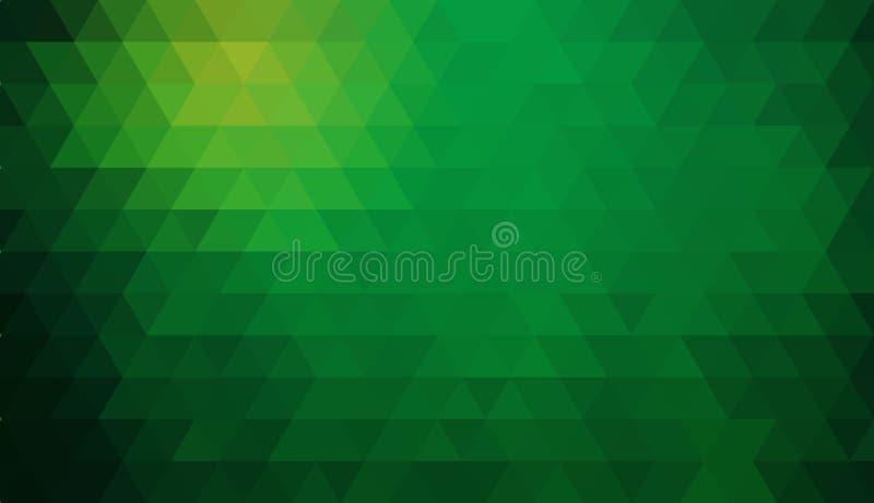 Veelkleurige groene, gele, oranje veelhoekige illustratie, wat uit driehoeken bestaan Driehoekig ontwerp voor uw zaken stock illustratie