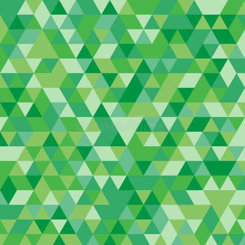 Veelkleurige groene geometrische driehoekige illustratie grafische achtergrond Vector veelhoekig ontwerp stock illustratie