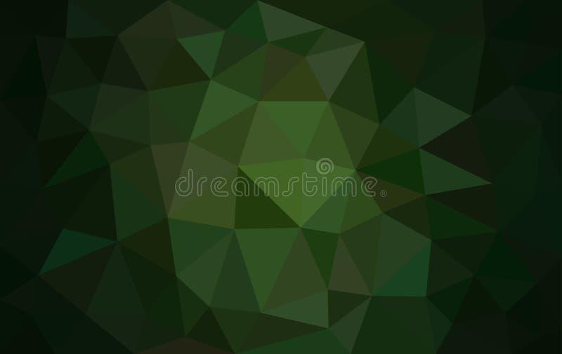 Veelkleurige groene lage polyachtergrond vector illustratie