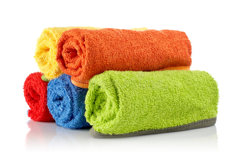 Veelkleurige handdoekenbroodjes royalty-vrije stock foto