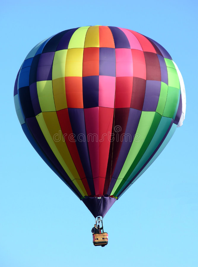 Veelkleurige hete luchtballon royalty-vrije stock afbeelding