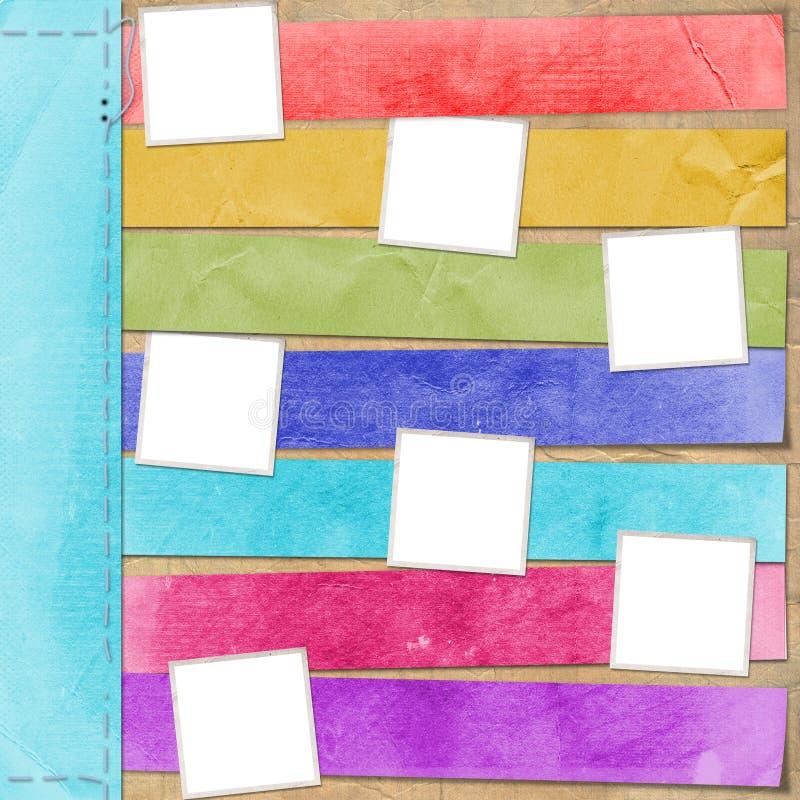 Veelkleurige kaart voor reclame vector illustratie