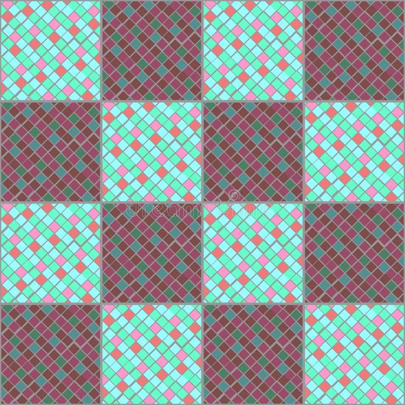 Veelkleurige mozaïekkeramische tegels Imitatie van reepjes van glas royalty-vrije illustratie