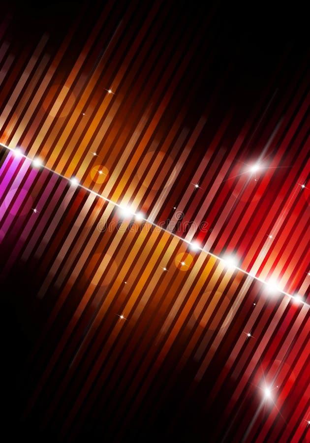 Veelkleurige Muziekachtergrond stock illustratie