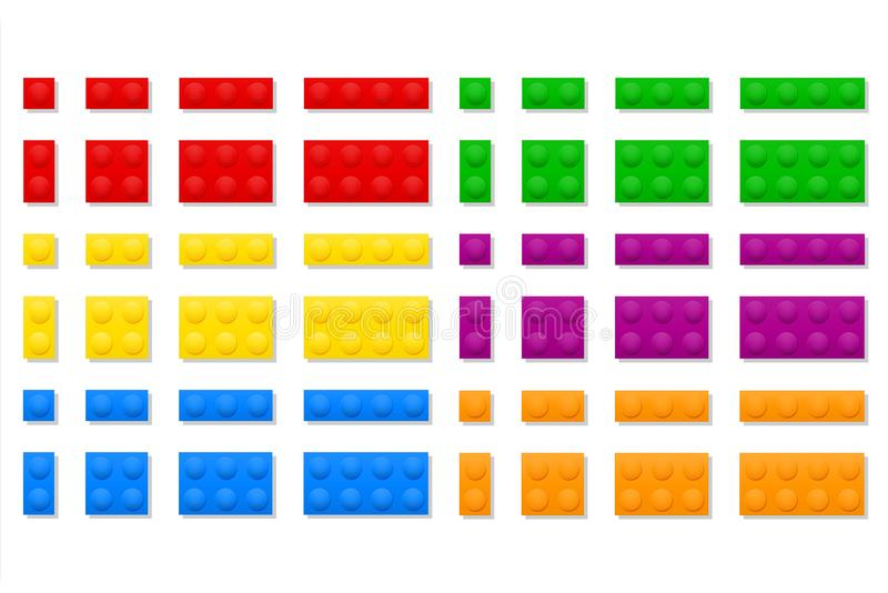 Veelkleurige plastic aannemer voor van de de spelenvoorraad van kinderen de onderwijs vectorillustratie vector illustratie