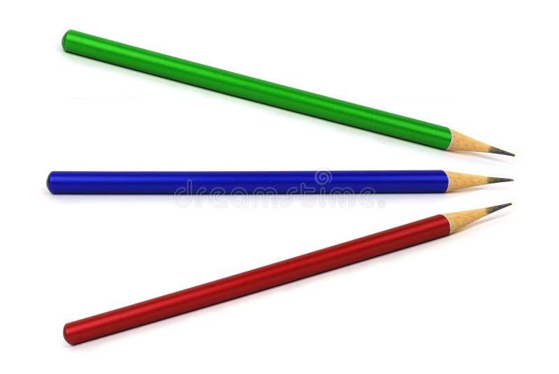 Veelkleurige potloden stock fotografie