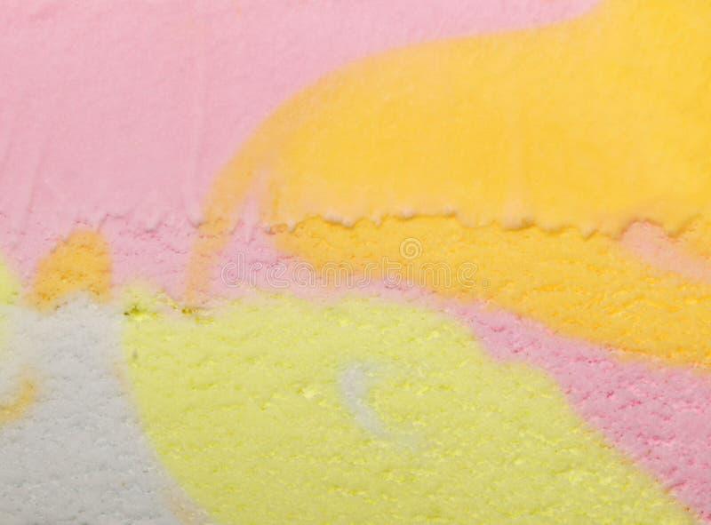 Veelkleurige roomijsoppervlakte stock afbeeldingen