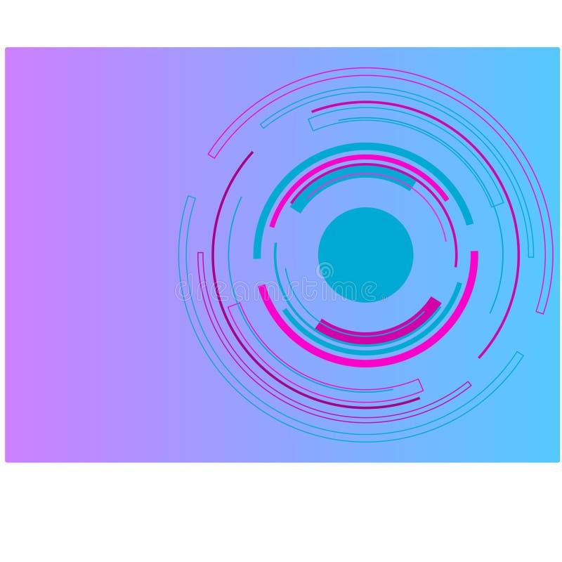 Veelkleurige technologiecirkel voor achtergrondbehang in vector royalty-vrije stock foto's