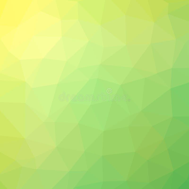 Veelkleurige veelhoekige illustratie, wat uit driehoeken bestaan Geometrische Achtergrond royalty-vrije illustratie