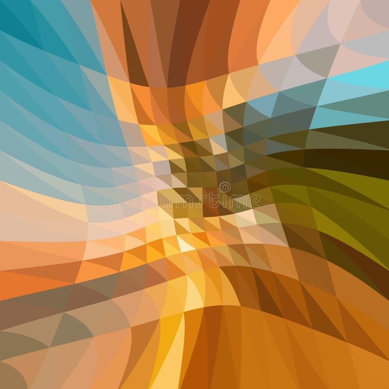 Veelkleurige veelhoekige illustratie, wat uit driehoeken bestaan Geometrische achtergrond in Origamistijl met gradiënt stock illustratie