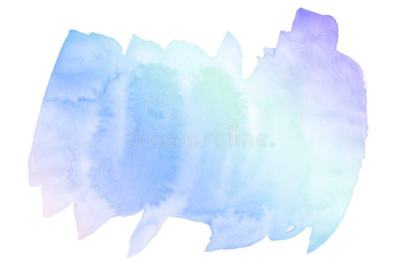 Veelkleurige waterverf in pastelkleurtonen Geïsoleerde plaats met scheidingen en grenzen Frame met exemplaarruimte stock foto's