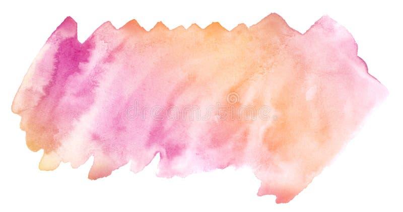 Veelkleurige waterverf in pastelkleurtonen Geïsoleerde plaats met scheidingen en grenzen vector illustratie