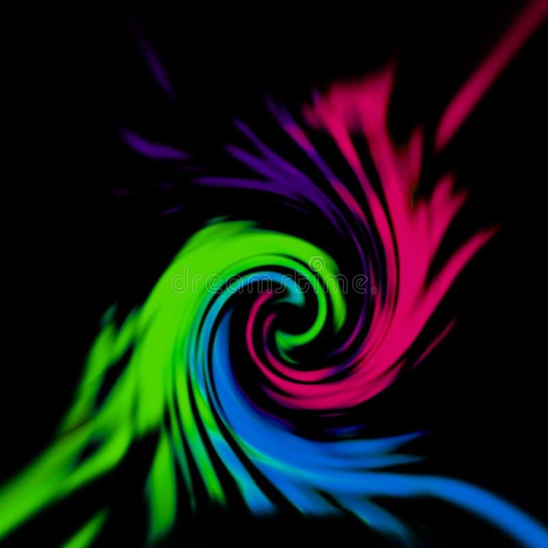 Veelkleurige wervelings abstracte achtergrond stock foto's