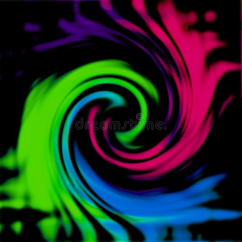 Veelkleurige wervelings abstracte achtergrond stock fotografie