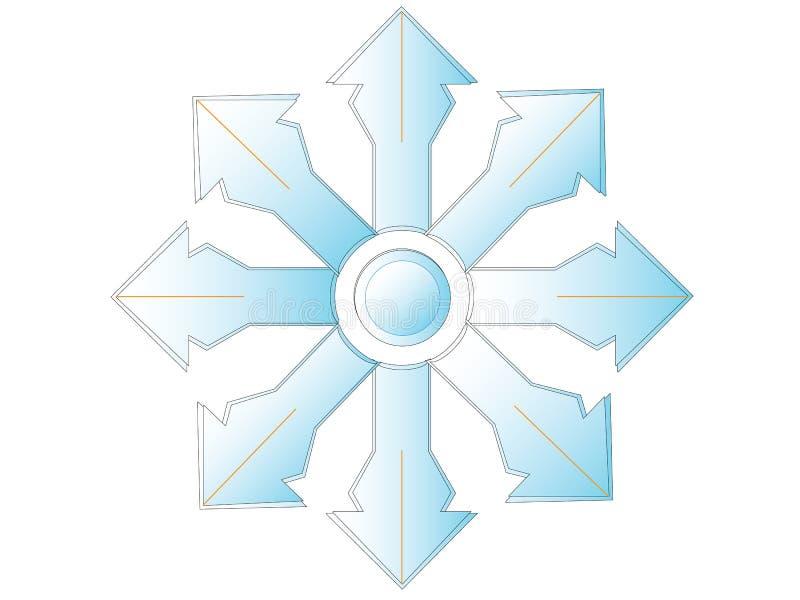 Veelvoudig wit kruis met oranje rand stock foto