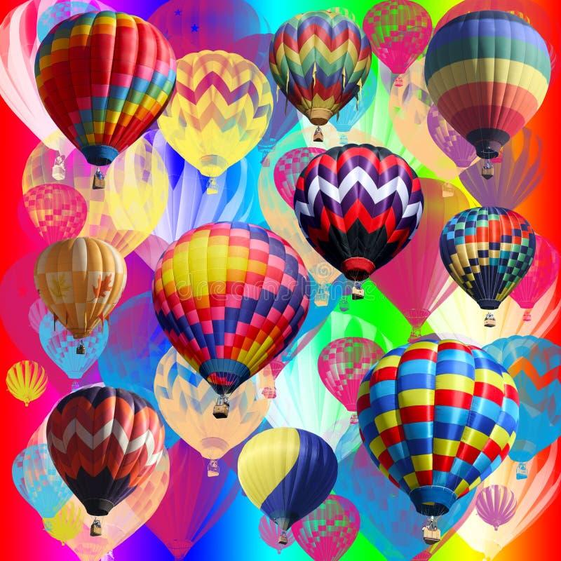 Veelvoudige ballons. stock illustratie