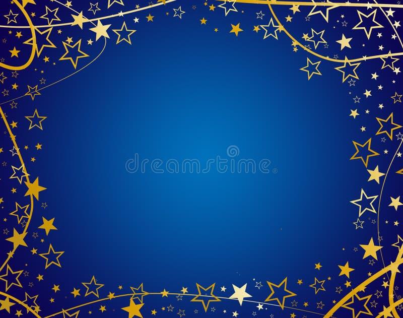 Veelvoudige Blauwe sterren vector illustratie