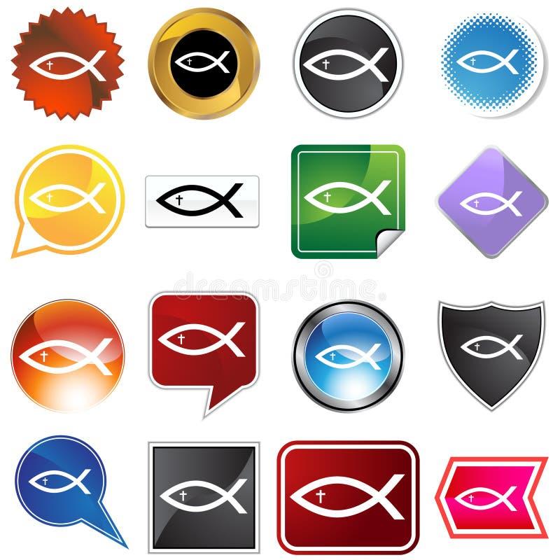 Veelvoudige Knopen - Godsdienstige Vissen vector illustratie