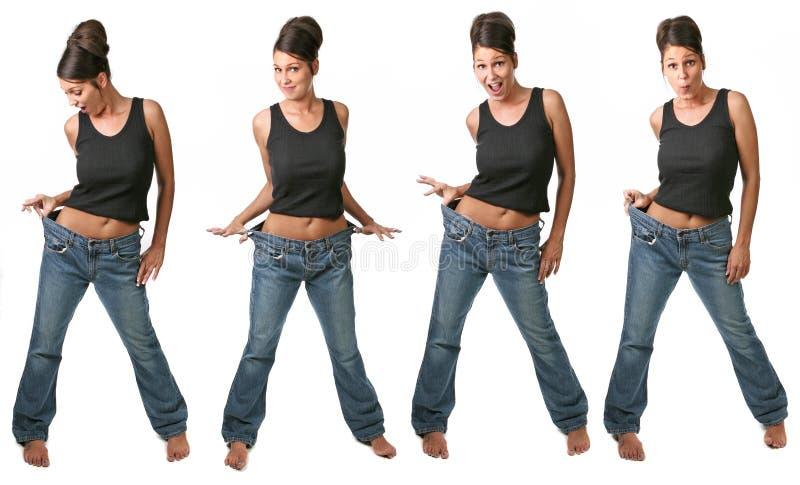 Veelvoudige Meningen van een Op dieet zijnde Vrouw stock foto's