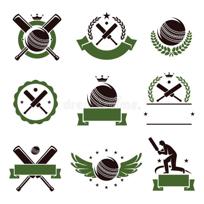 Veenmol en geplaatste voetbaletiketten en pictogrammen Vector vector illustratie