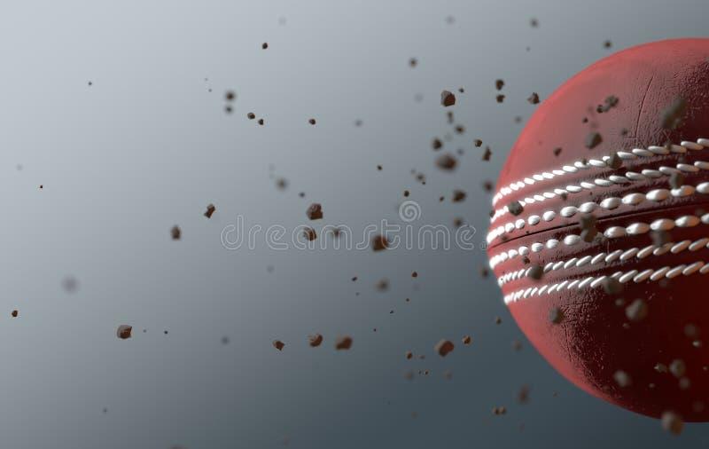 Veenmolbal tijdens de vlucht stock illustratie
