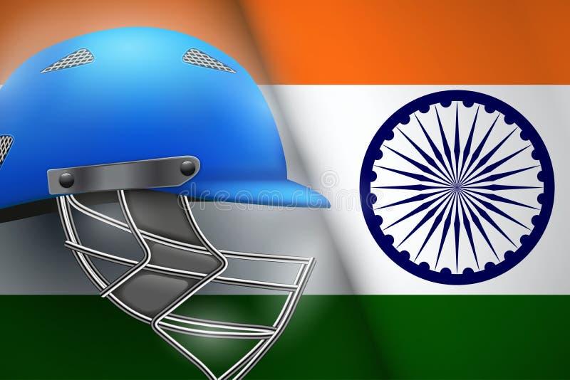 Veenmolhelm en de Vlag van India stock illustratie