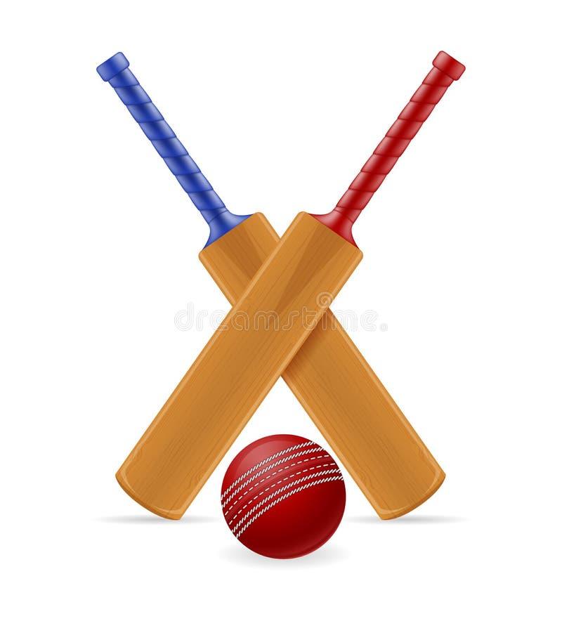 Veenmolknuppel en bal voor een de voorraad vectorillustratie van het sportenspel vector illustratie