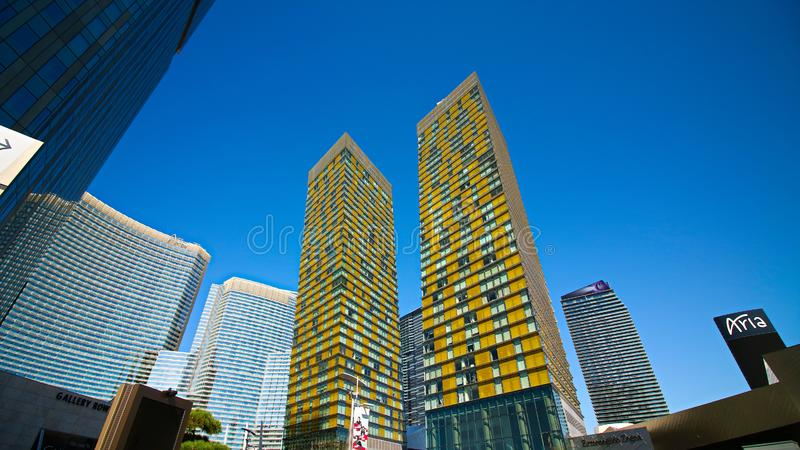 The Veer Towers at CityCenter in Las Vegas royalty free stock images