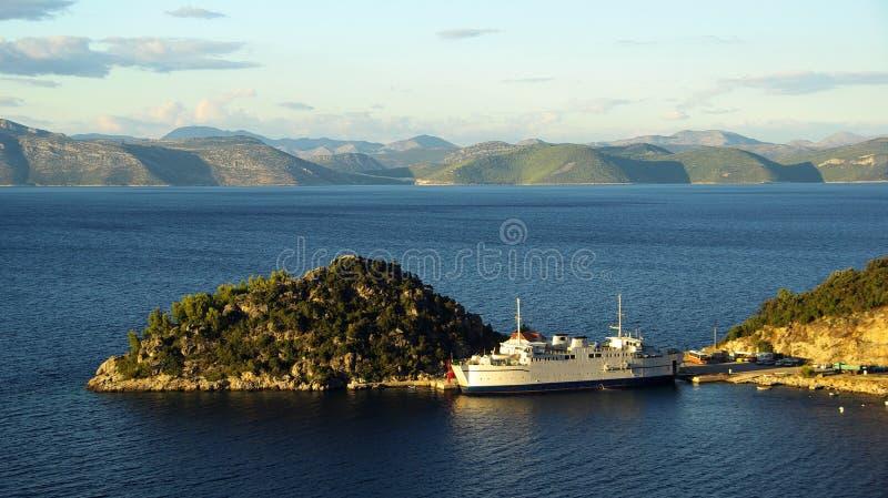Veerboot 05 van Kroatië stock fotografie