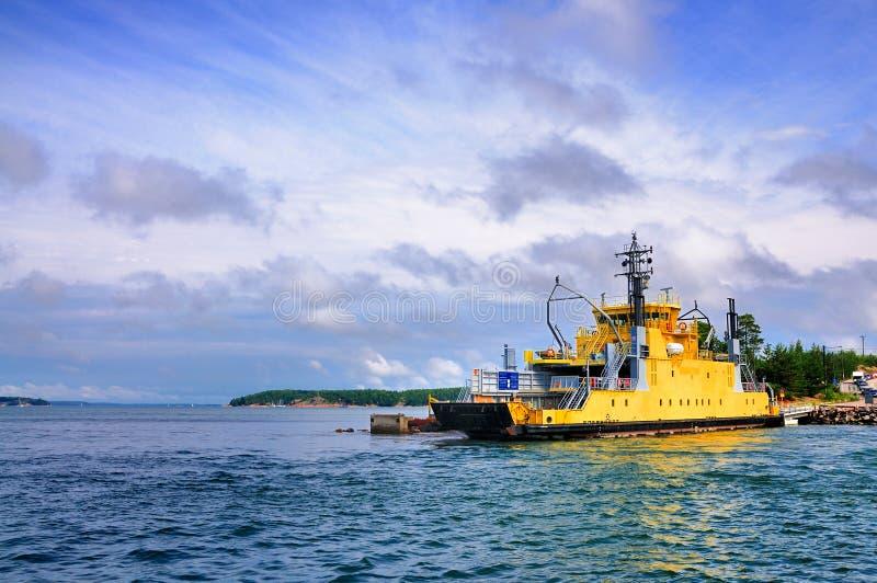 Veerboot aan Aland, Finland stock afbeelding