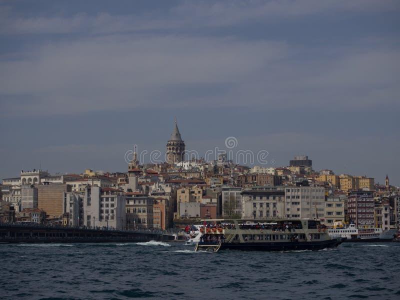 Veerboot in Bosphorus stock fotografie