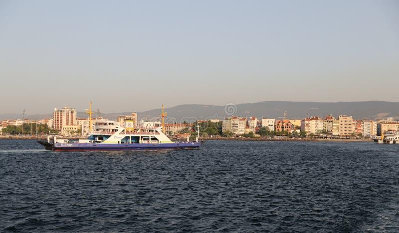 Veerboot in Canakkale royalty-vrije stock afbeelding