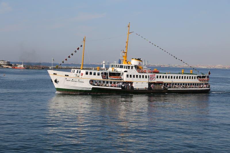 Veerboot in Istanboel royalty-vrije stock afbeeldingen