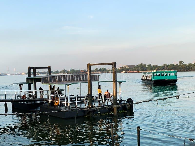 Veerboot lokale achtergrond royalty-vrije stock afbeeldingen