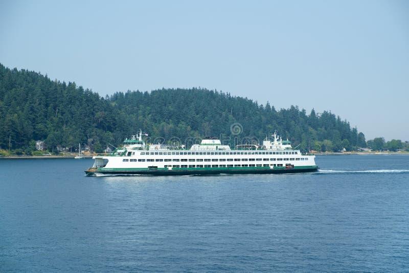 Veerboot op Puget Sound royalty-vrije stock afbeelding