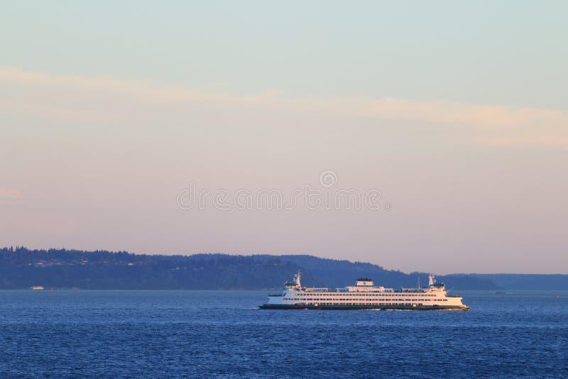 Veerboot op Puget Sound stock afbeelding