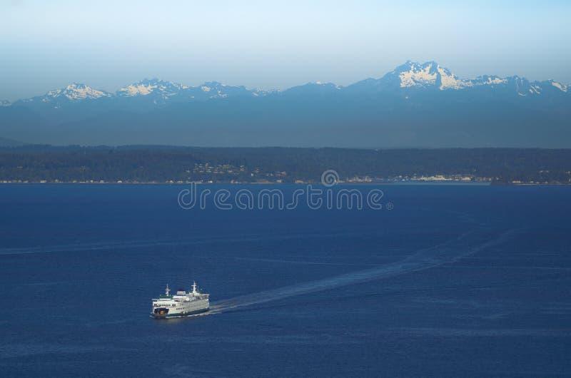 Veerboot op Puget Sound stock afbeeldingen